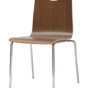 198C Bleeker Street Wood Shell Chair from NDI Office Furniture