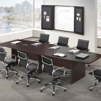 Performance Laminate Boat-Shaped Conference Table from NDI Office Furniture