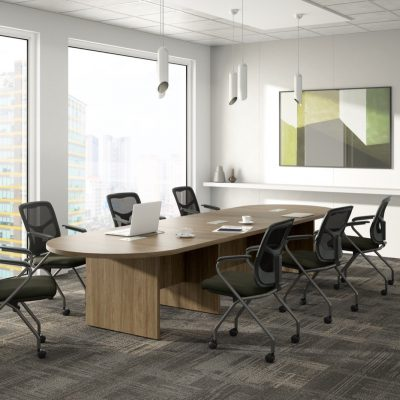 Performance Laminate Oval/Racetrack-Shaped Conference Tables from NDI Office Furniture