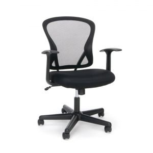 SO6023 - Milo Task Arm Chair with Black Fabric Seat